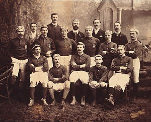 Queen's Park F.C. - Queen's Park during its first years of existence, when the jersey was still blue
