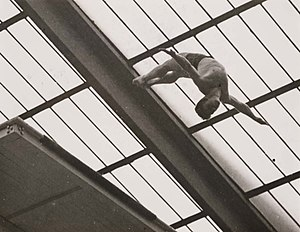 High diving - R. M. Stigersand in the Men's High Diving competition, Olympic Games, London, 1948