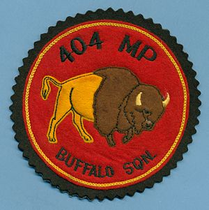 404 Maritime Patrol and Training Squadron - RCAF 404 Buffalo Squadron, MP (Maritime Patrol) jacket patch manufactured by Crest Craft and possibly used between 1956 and the early 60's.