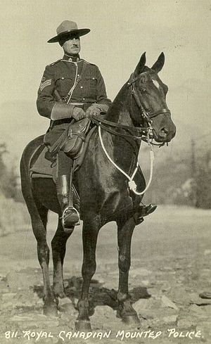 Postcard of a Royal Canadian Mounted Police of...