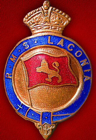 Royal Mail Ship - Image: RMS Laconia Crest