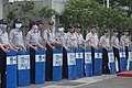 ROC-NPA Special Police riot shields outside of Wang-Zhang Meeting 20140625.jpg