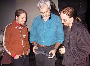 Alternative Party (demoparty) - Robert J. Mical, the co-inventor of Atari Lynx, playing at Alternative Party 2002