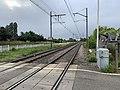 Rails Ligne Mâcon Ambérieu près Passage Niveau 4 St Jean Veyle 4.jpg