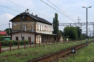 Nisko - Image: Railway Station in Nisko (Poland, July 2010)