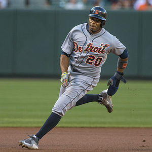 Rajai Davis - Davis playing for the Detroit Tigers in 2015