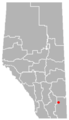 Ralston, Alberta Location.png