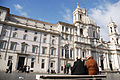 Rare view of Sant'Agnese in Agone Church, as from Piazza Navona, Rome, Italy.jpg