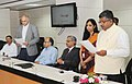Ravi Shankar Prasad administering the oath of secrecy and office as part time member of UIDAI to Shri Anand Deshpande, Founder & CEO, Persistent Systems, in New Delhi.jpg