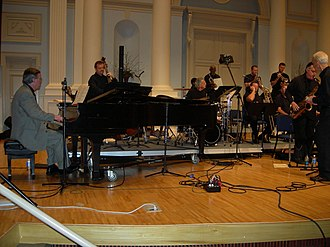 Magic City Jazz Orchestra - Magic City Jazz Orchestra Founding Director Ray Reach (at the piano), performing at Samford University with the SuperJazz Big Band, 2007.