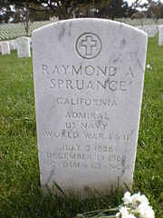 Raymond A. Spruance headstone