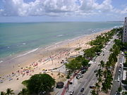 Boa Viagem Beach, Piedade on the far end.