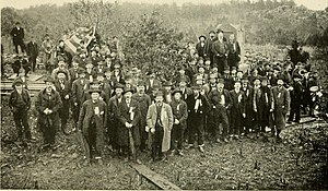 93rd Pennsylvania Infantry - 93rd Pennsylvania Infantry Regiment veterans at the dedication of their monument at Gettysburg, October 30, 1884.