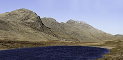 Red Tarn between Cold Pike and Pike of Blisco, Lake District, England 03.jpg
