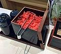 Red pickled ginger box of Yoshinoya.jpg