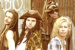 Rednex in July 2018 featuring Ace Ratclaw, Pervis The Palergator, Spades, Misty Mae.jpg