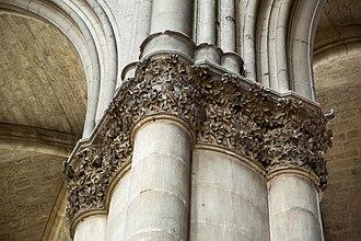 Aesculus - Image: Reims Notre Dame column detail horse chestnut