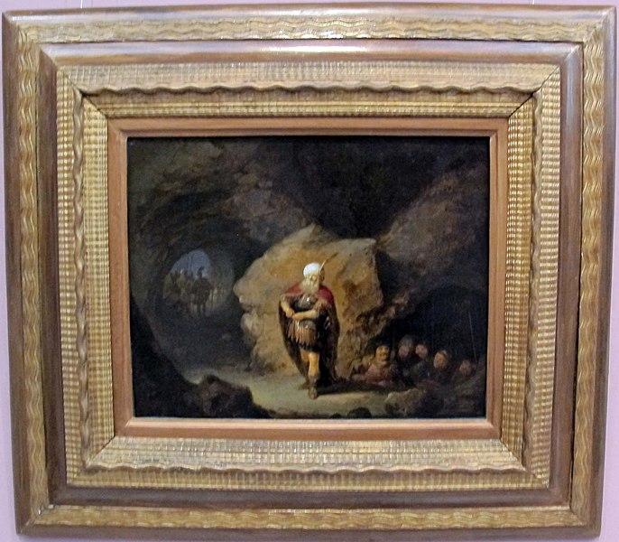 File:Rembrandt (bottega), davide taglia il mantello di saulo.JPG