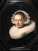 Rembrandt (workshop) - Portrait of a Woman - Q21515145 - (without frame).jpg