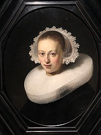 Rembrandt (workshop) - Portrait of a Woman - Q21515145 - (without frame).jpg