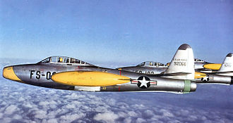 165th Airlift Squadron - Republic F-84E Thunderjet flown by the 123d Fighter Group at RAF Manston, England
