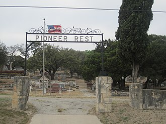 Menard, Texas - Pioneer Rest Cemetery in Menard has graves from the 19th century.