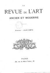 Jules Comte: Revue de l'art ancien et moderne, juillet 1906