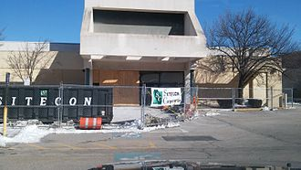 Rhode Island Mall - The mall undergoing redevelopment in February 2016.