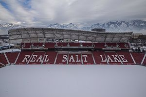 Rio Tinto Stadium - Rio Tinto Stadium sits at the base of the Wasatch Mountains.