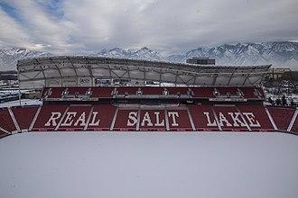 Rio Tinto Stadium - Rio Tinto Stadium sits at the base of the Wasatch Mountains.
