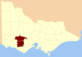 Electoral district of Ripon and Hampden - Location in Victoria