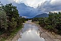 Road and a puddle in Akamas Peninsula, Cyprus.jpg