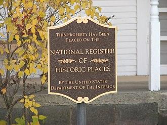 Robert E. Howard Museum - National Register plaque
