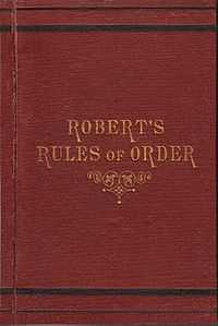 罗伯特议事规则