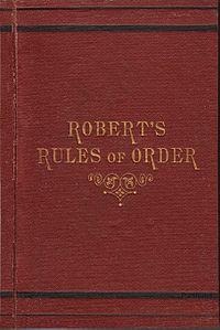 Roberts rule of thumb