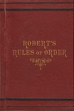 Robert's Rules of Order - Image: Roberts Rules 1st