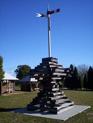Robertson, New South Wales - Memorial to Railway Workers.