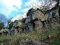 Rocky outcrop on Henallt common Hay-on-Wye - geograph.org.uk - 30549.jpg