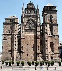 Western façade of Rodez Cathedral
