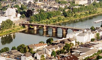 History of Trier - The Roman Bridge across the Moselle River