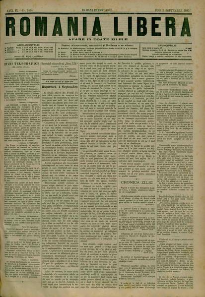 File:România liberă 1885-09-05, nr. 2434.pdf