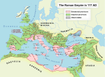 The Roman Empire at its greatest extent, at the death of Trajan (117 AD)