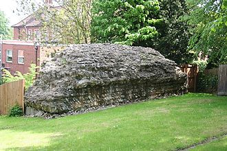 Lindum Colonia - Roman Wall at East Bight by the Newport where there was a water storage tank