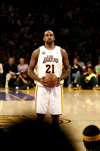 Ronny Turiaf - Turiaf in the Los Angeles Lakers uniform. He played for Lakers from 2006 to 2008.