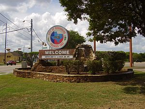 Rosenberg, Texas - Welcome sign