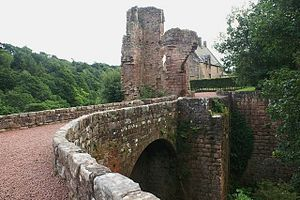 Clan Sinclair - The ruins of Roslin Castle, former seat of the Sinclair Barons of Roslin