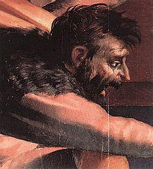 La deposizione dalla croce. Rosso Fiorentino e altri artisti. 220px-Rosso_Fiorentino_-_Descent_from_the_Cross_%28detail%29_-_WGA20120