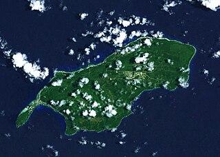 Satellitenaufnahme von Rota (Nördliche Marianen)