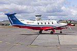 Royal Flying Doctor Service of Australia Central Operations (VH-FXJ) Pilatus PC-12-45 at Wagga Wagga Airport (3).jpg