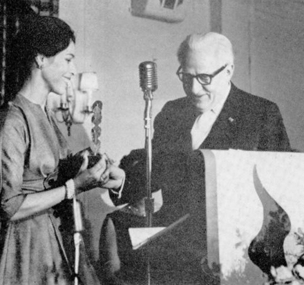 Publisher Rudolf Orthwine presents Tallchief with a Dance Magazine award on April 28, 1961. Rudolf Orthwine presenting Maria Tallchief a Dance Magazine award April 28, 1961.png